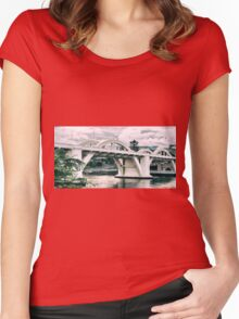 William Jolly Bridge in the afternoon Women's Fitted Scoop T-Shirt