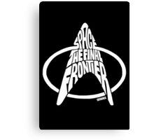 Star Trek Final Frontier (White) Canvas Print
