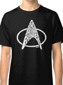 Star Trek Final Frontier (White) Classic T-Shirt