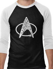 Star Trek Final Frontier (White) Men's Baseball ¾ T-Shirt