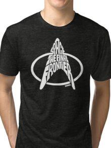Star Trek Final Frontier (White) Tri-blend T-Shirt