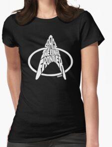 Star Trek Final Frontier (White) Womens Fitted T-Shirt