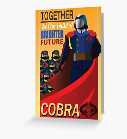 Join Cobra Greeting Card