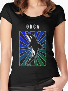 Orca Rays Women's Fitted Scoop T-Shirt
