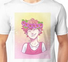 Pastel Hinata with Flower Crown Unisex T-Shirt