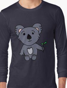 Cartoon Koala Bear Long Sleeve T-Shirt