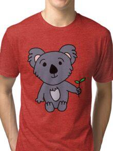 Cartoon Koala Bear Tri-blend T-Shirt