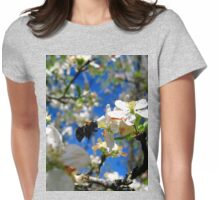 blue skies and a bee Womens Fitted T-Shirt