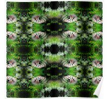 Flowers Fractal Pattern Poster