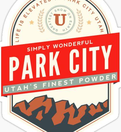 PARK CITY UTAH MOUNTAINS SKIING SKI SNOWBOARD Sticker