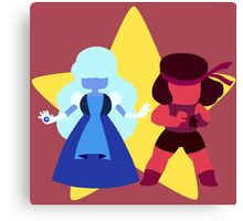 Ruby & Sapphire (Red) Canvas Print