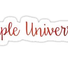 Temple University Red Sticker
