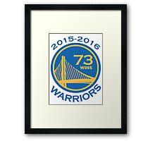 Golden State Warriors 73-9 Record NBA Framed Print