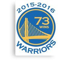 Golden State Warriors 73-9 Record NBA Canvas Print