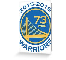 Golden State Warriors 73-9 Record NBA Greeting Card