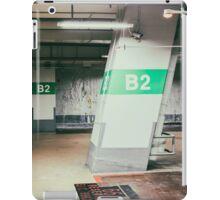 Parking garage underground, industrial interior iPad Case/Skin