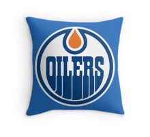oilers Throw Pillow