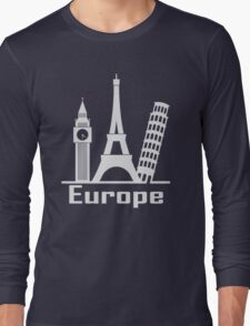 Europe Long Sleeve T-Shirt