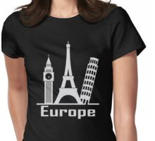 Europe Womens Fitted T-Shirt