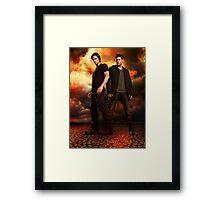 supernatural - dean and sam Framed Print