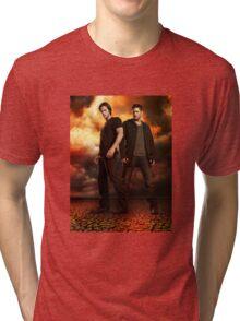 supernatural - dean and sam Tri-blend T-Shirt