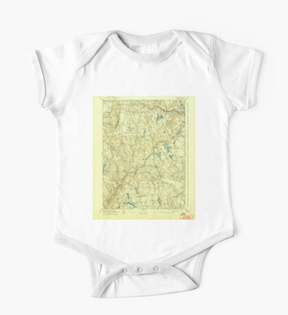 USGS TOPO Map Connecticut CT Gilead 331031 1892 62500 One Piece - Short Sleeve