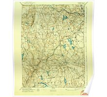 USGS TOPO Map Connecticut CT Gilead 331031 1892 62500 Poster