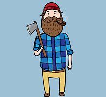 Lumberjack with an axe  Unisex T-Shirt