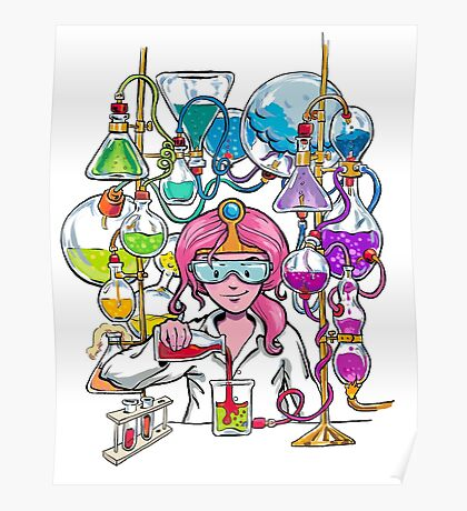 Science With Princess Bubblegum Poster