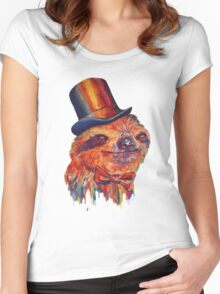 Dapper Sloth Women's Fitted Scoop T-Shirt