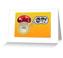 Vector Foul Language Shroom Greeting Card