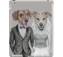 dogs wedding iPad Case/Skin