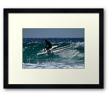 Long Boarder At Snapper Rocks Framed Print