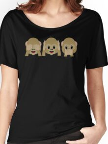 Three Wise Monkeys Women's Relaxed Fit T-Shirt