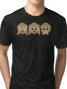 Three Wise Monkeys Tri-blend T-Shirt