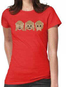 Three Wise Monkeys Womens Fitted T-Shirt