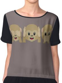 Three Wise Monkeys Chiffon Top