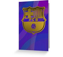 Tribute to F C Barcelona Greeting Card