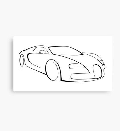 Bugatti Veyron graphic (Black) Canvas Print