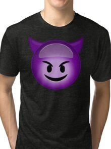 Evil Purple Tri-blend T-Shirt