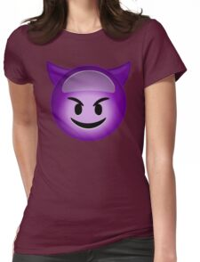 Evil Purple Womens Fitted T-Shirt