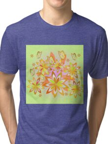 Spring activity in my garden Tri-blend T-Shirt