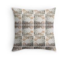 Gorgeous Golden-Copper Pigment Textile Print pattern Throw Pillow