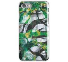 """Multi Layered Green Abstract """"Forest Fusion"""" iPhone Case/Skin"""