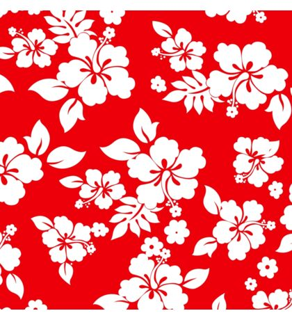 Red Hawaiian Sticker
