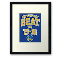 Can they beat the Golden State Warriors Record NBA Framed Print