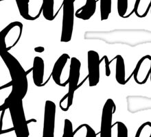Alpha Sigma Alpha Sticker