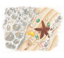 The Sea, with Emeralds, Pearls and a Starfish Photographic Print