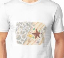 The Sea, with Emeralds, Pearls and a Starfish Unisex T-Shirt