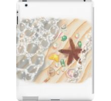 The Sea, with Emeralds, Pearls and a Starfish iPad Case/Skin